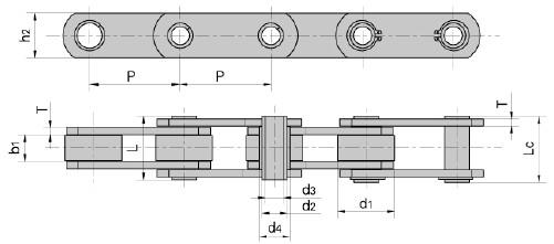 MC series conveyor chain